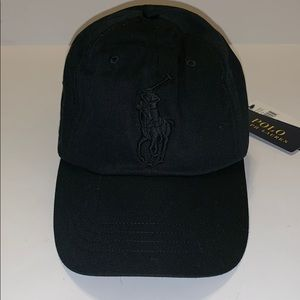 Polo Ralph Lauren Big Pony Logo blacked Out Hat